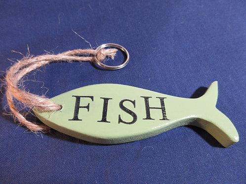 Artisan handcrafted Fish Key-ring