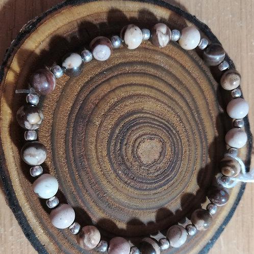 Brown Zebra Jasper Gemstone Bracelet