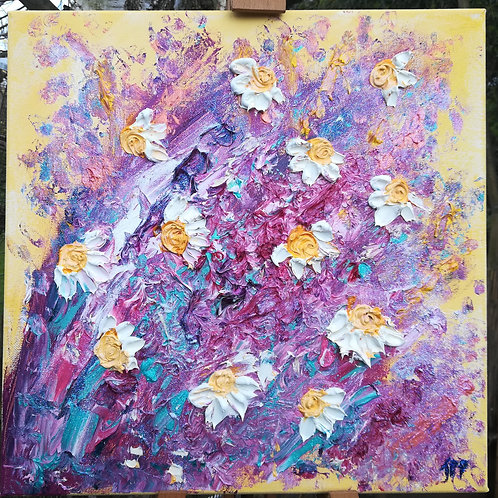 Artisan oil on canvas Daisies