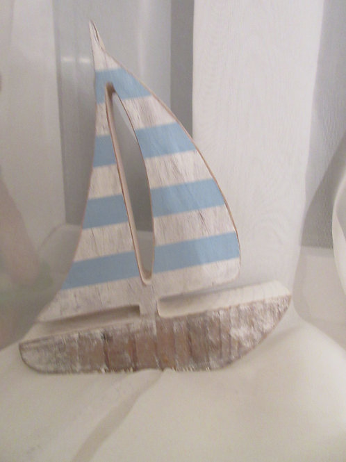 Handcrafted wooden yacht