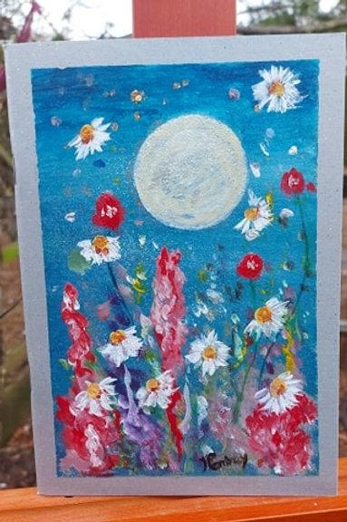 Handpainted Dancing daisies A5 Journal