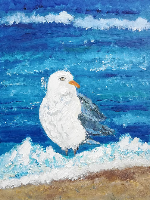 Artisan Oil on Canvas Seagull