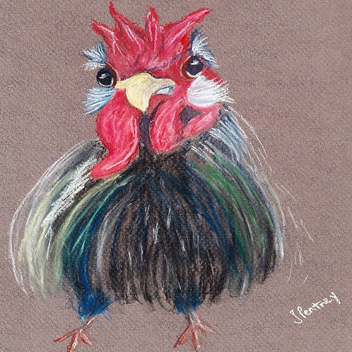 (50) Ronald - Crazy Chick  Greeting card