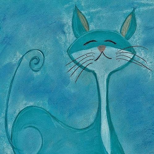 (34) Mr Bigglesworth- Cat greeting card