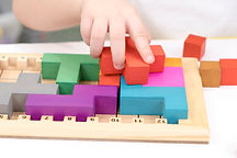 Creativity toys. wooden cubes. Geometry