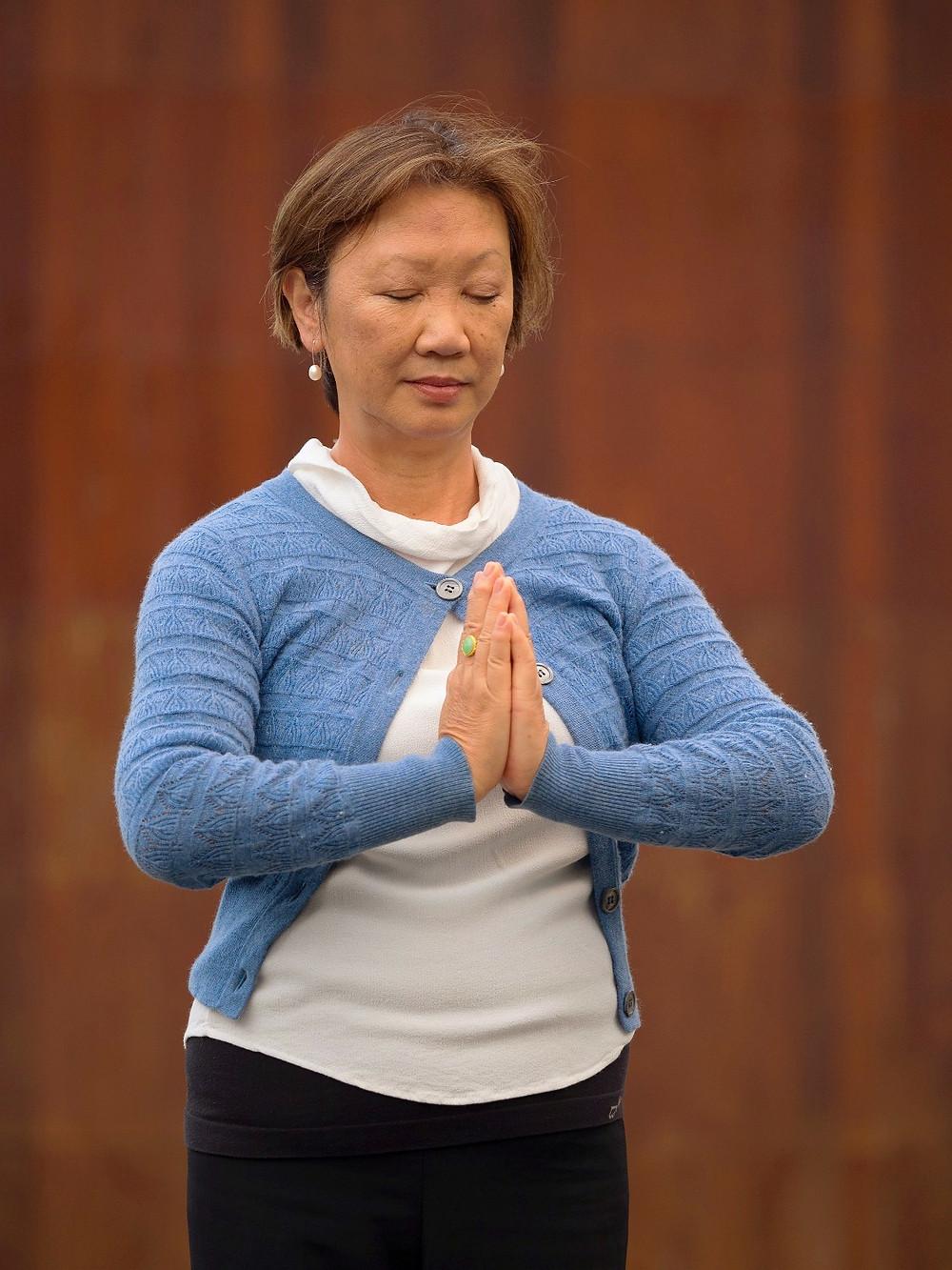 Prayer hands position