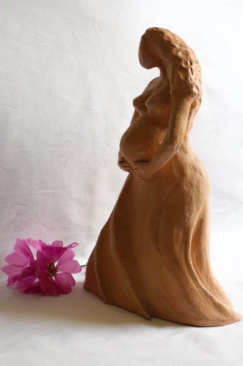 Terre Ocre Sculpture Femme enceinte