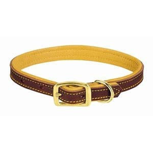"Weaver Deer Ridge Leather Collar 1"" wide for medium to large dogs"
