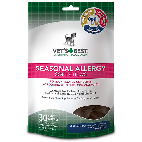 Seasonal Allergy Dog Soft Chews 30 count  by Vet's Best