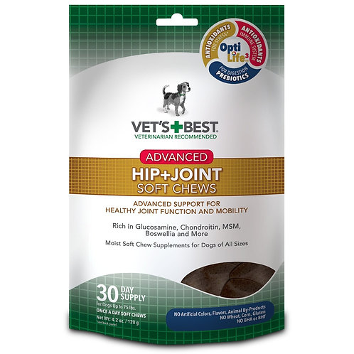 Advanced Hip and Joint Dog Soft Chews 30 counts  by Vet's Best