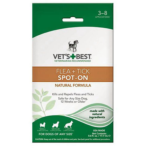 Dog Flea and Tick Spot-On Formula 0.6oz  by Vet's Best