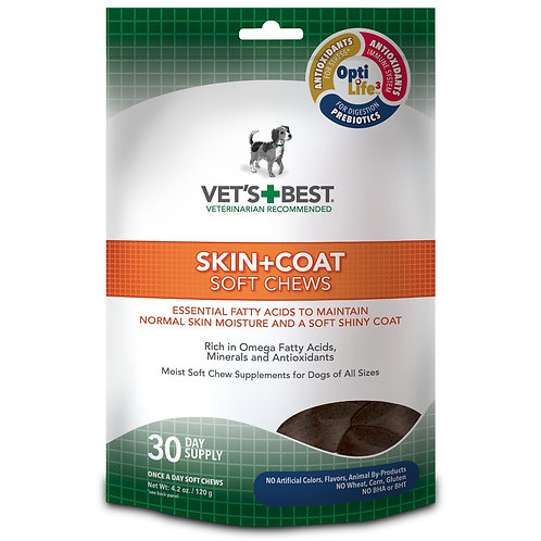 Skin and Coat Dog Soft Chews 30ct  by Vet's Best