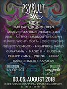 Psykult Festivalkult 2018 . Auf e Psy Floor Deko mit UV - Optics Hannover. Goa Party Dekoteam buchen für Festivals und Partys