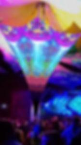 New Design Uv-Optics - Goa Party Deko mieten - Dekoteam Goa Event