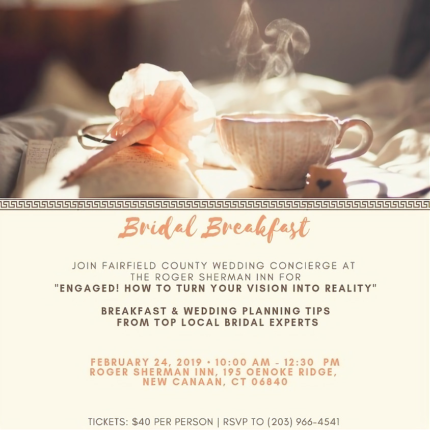 Breakfast & Wedding Planning Seminar Hosted by Roger Sherman Inn and Fairfield County Wedding Concierge
