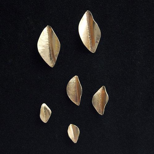 24k leaf earrings