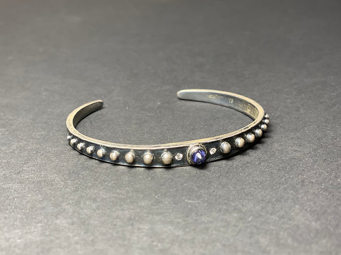 Diamond and Iolite Urchin Bracelet