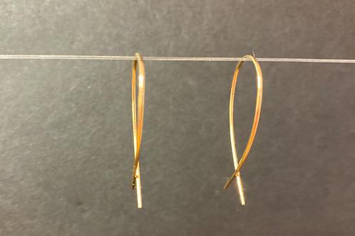 14K Small Gold Fish Earrings