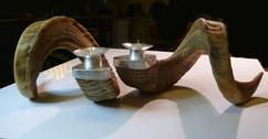 ramar's studio ram horn candlesticks.jpg