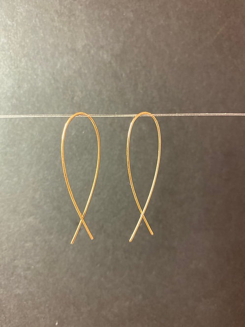 14k Gold Minnows Earrings