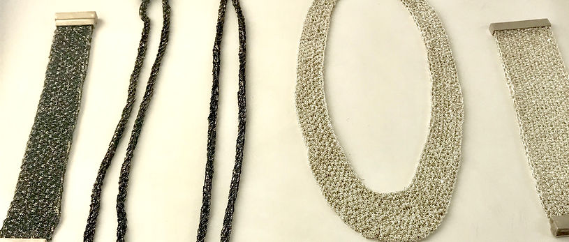 Several necklaces by Eva Jankowski