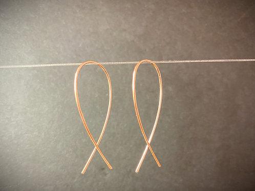 Rose Gold Minnow Earrings-medium