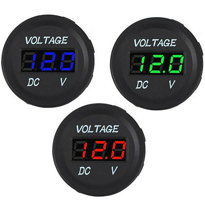 Led DC Digital Display Waterproof Voltmeter