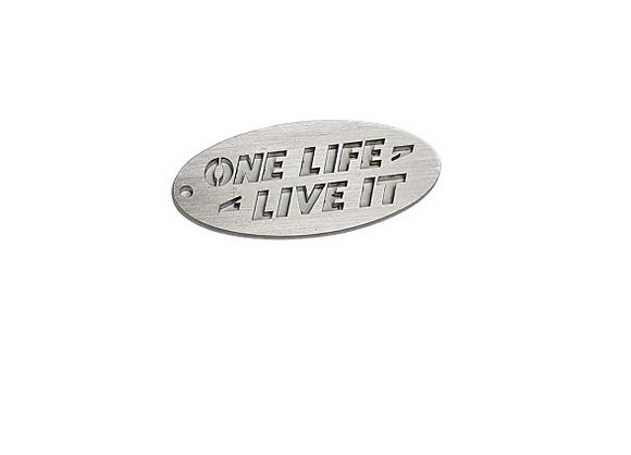 One Life Live It Stainless Steel Keyring
