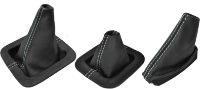 Discovery 1 / Discovery 2 manual black leather Gaiter set x 3