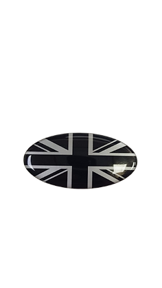 Oval Resin Union Jack Badge