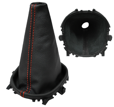 Freelander 1 Manual Black Leather Gearstick Gaiter