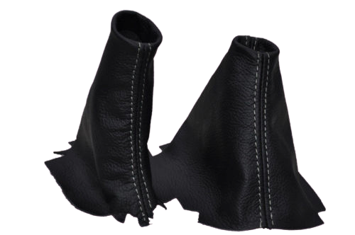 Discovery 1/2 Automatic black leather Gaiter set x2