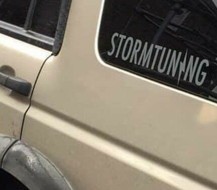Storm tuning decal sticker 2 x