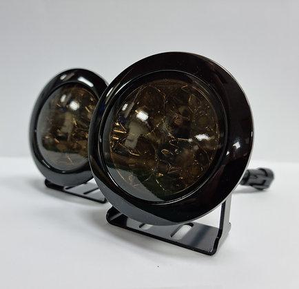 Defender 70mm Round DRL Led's (Dark Lens)