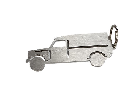 Defender 110/130 Stainless Steel Keyring