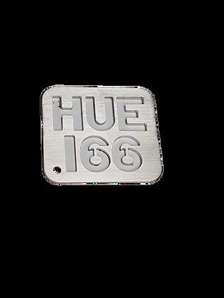 Hue 166 Stainless Steel Keyring
