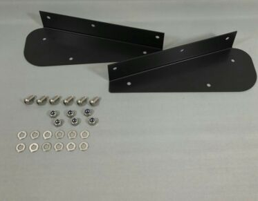 Defender 90 Rear Mud Flap Brackets in Stainless steel.