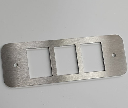 Defender triple Stainless Steel Hazard Switch Panel