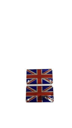 Vinyl Union Jack Badges Pair x2