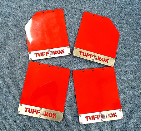 Discovery 1 red pvc mudflaps.