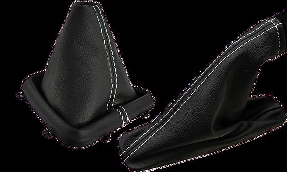Freelander 2 manual black leather Gaiter set x2
