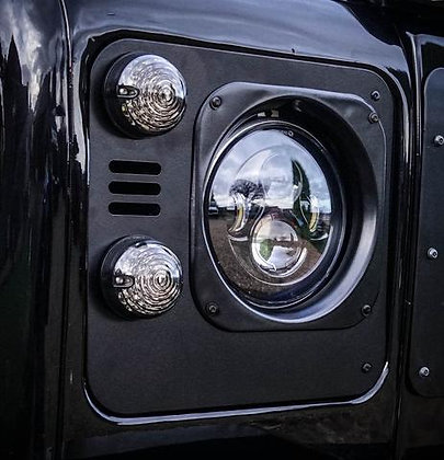 Defender Tornado Aluminium Headlight Surrounds