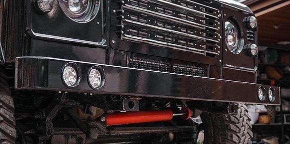 Defender 90 110 130 DRL Stainless Steel Black Bumper (4MM)