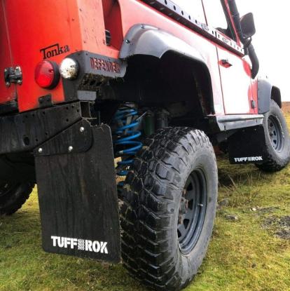 Defender 90 tdi Tuff-rok Mud Flap set