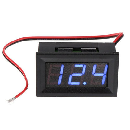 Blue Voltmeter LED Display