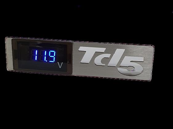 Defender TD5 Stainless steel Volt Meter Panel