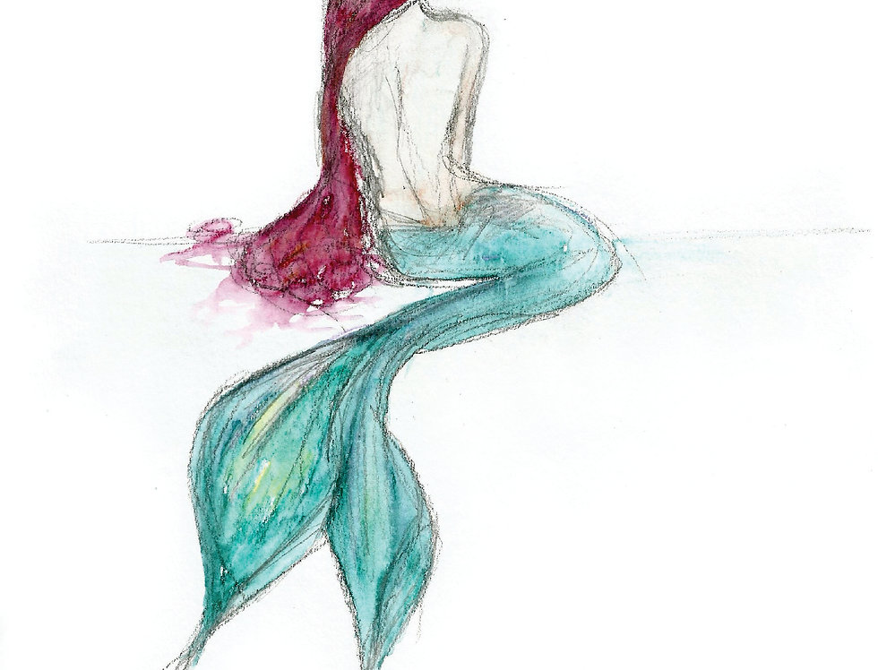 'Murthuile' mermaid card