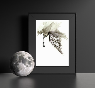 Raven - gothic artwork by unique Scottish artist Morvenna