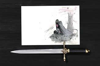 Defeated Knight | Father's Day Card | Morvenna