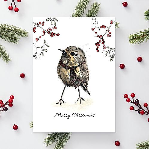 'Wee birdie' Christmas card